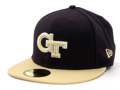 Georgia-Tech NCAA 2 Tone 59FIFTY Cap Hats