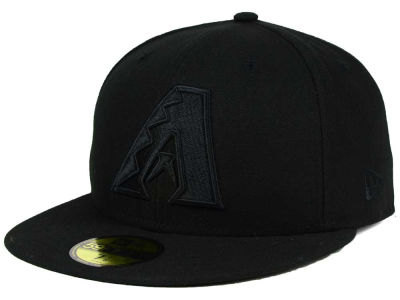 Arizona Diamondbacks MLB Black on Black Fashion 59FIFTY Cap Hats