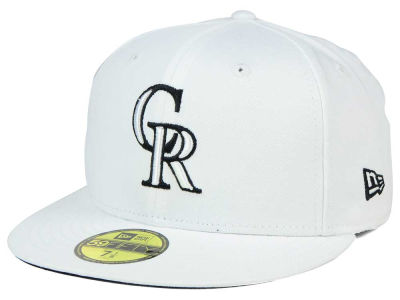 Colorado Rockies MLB White And Black 59FIFTY Cap Hats