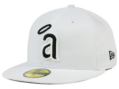 Los Angeles Angels MLB White And Black 59FIFTY Cap Hats