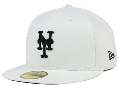 New York Mets MLB White And Black 59FIFTY Cap Hats