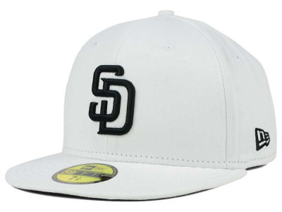 San Diego Padres MLB White And Black 59FIFTY Cap Hats