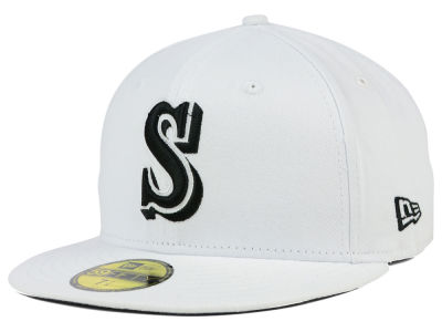 Seattle Mariners MLB White And Black 59FIFTY Cap Hats