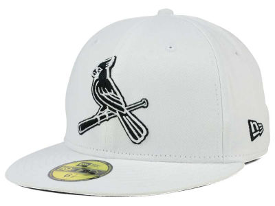 St. Louis Cardinals MLB White And Black 59FIFTY Cap Hats