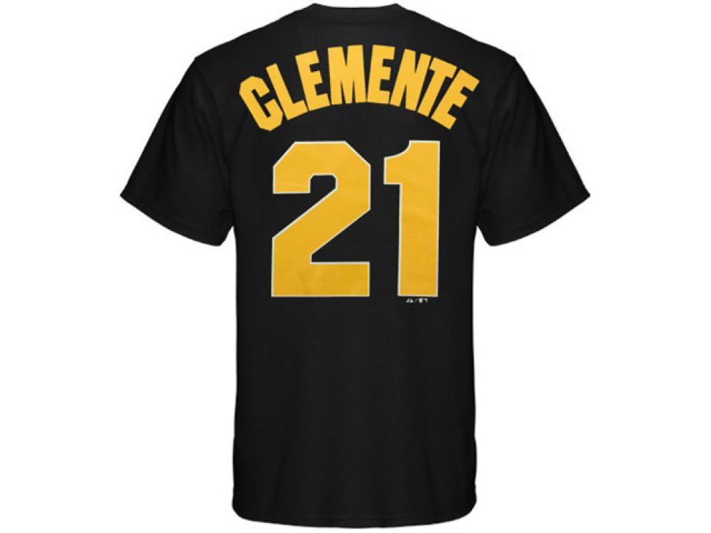 011eafae70b Pittsburgh Pirates Roberto Clemente Majestic MLB Men s Cooperstown Player  T-Shirt low-cost