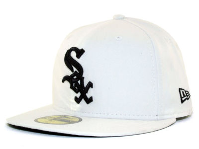Chicago White Sox MLB White And Black 59FIFTY Cap Hats