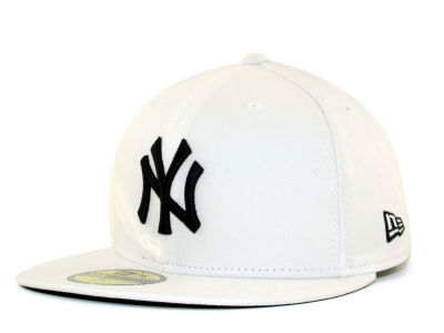 New York Yankees MLB White And Black 59FIFTY Cap Hats