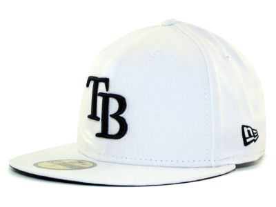 Tampa Bay Rays MLB White And Black 59FIFTY Cap Hats