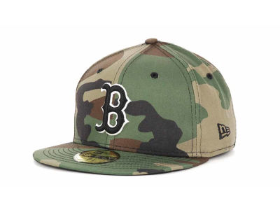 Boston Red Sox MLB BC Camo 59FIFTY Cap Hats