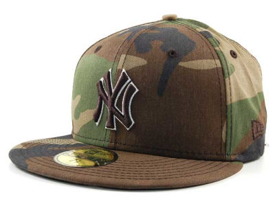 New York Yankees MLB BC Camo 59FIFTY Cap Hats