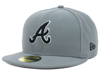 Atlanta Braves MLB Gray BW 59FIFTY Cap Hats