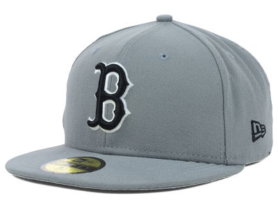 Boston Red Sox MLB Gray BW 59FIFTY Cap Hats