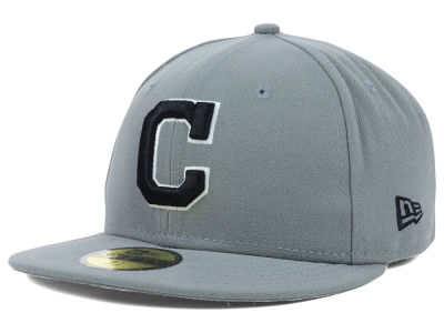 Cleveland Indians MLB Gray BW 59FIFTY Cap Hats