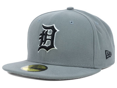 Detroit Tigers MLB Gray BW 59FIFTY Cap Hats