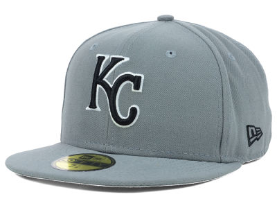 Kansas City Royals MLB Gray BW 59FIFTY Cap Hats