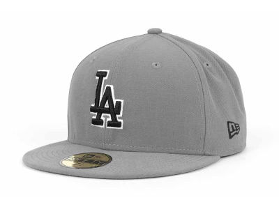 Los Angeles Dodgers MLB Gray BW 59FIFTY Cap Hats