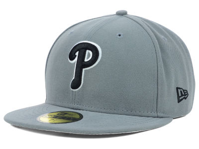 Philadelphia Phillies MLB Gray BW 59FIFTY Cap Hats