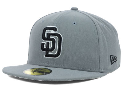 San Diego Padres MLB Gray BW 59FIFTY Cap Hats