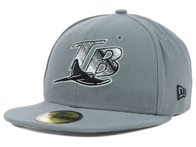 Tampa Bay Rays MLB Gray BW 59FIFTY Cap Hats