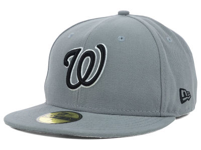 Washington Nationals MLB Gray BW 59FIFTY Cap Hats