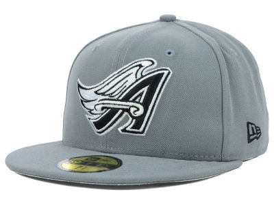 Los Angeles Angels MLB Gray BW 59FIFTY Cap Hats