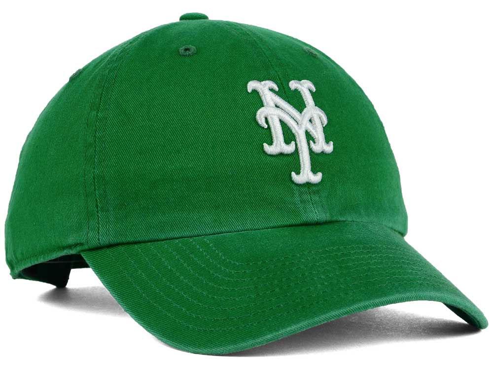 New York Mets  47 MLB Kelly White  47 CLEAN UP Cap durable modeling ... edeaca52385d