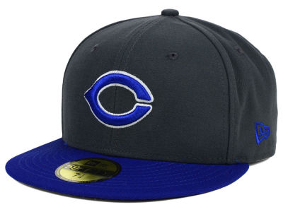 Creighton Blue Jays NCAA 2 Tone Graphite and Team Color 59FIFTY Cap Hats