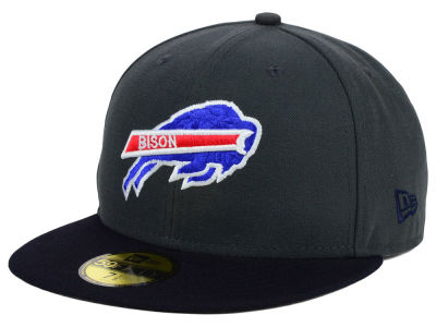 Howard University Bisons NCAA 2 Tone Graphite and Team Color 59FIFTY Cap Hats