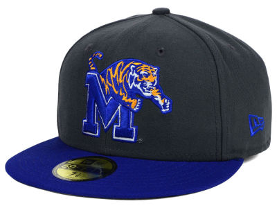Memphis Tigers NCAA 2 Tone Graphite and Team Color 59FIFTY Cap Hats