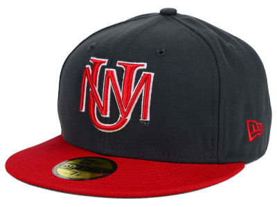 New Mexico Lobos NCAA 2 Tone Graphite and Team Color 59FIFTY Cap Hats