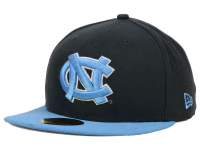 North Carolina Tar Heels NCAA 2 Tone Graphite and Team Color 59FIFTY Cap Hats
