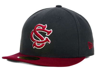 South Carolina Gamecocks NCAA 2 Tone Graphite and Team Color 59FIFTY Cap Hats