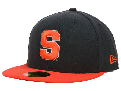 Syracuse Orange New Era NCAA 2 Tone Graphite and Team Color 59FIFTY Cap Hats