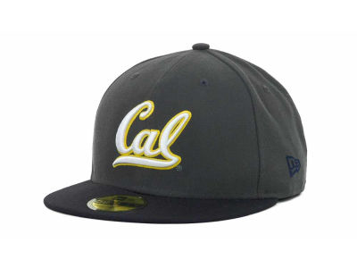 California Golden Bears NCAA 2 Tone Graphite and Team Color 59FIFTY Cap Hats