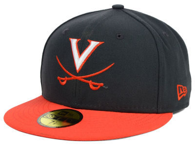 Virginia Cavaliers NCAA 2 Tone Graphite and Team Color 59FIFTY Cap Hats