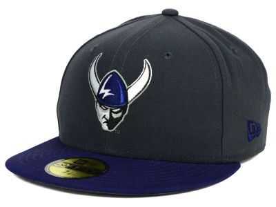 Western Washington Vikings NCAA 2 Tone Graphite and Team Color 59FIFTY Cap Hats