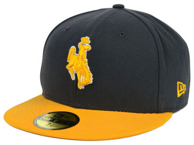 Wyoming Cowboys NCAA 2 Tone Graphite and Team Color 59FIFTY Cap Hats