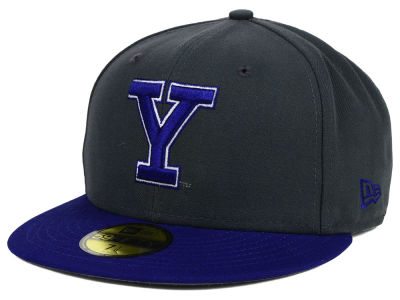 Yale Bulldogs NCAA 2 Tone Graphite and Team Color 59FIFTY Cap Hats