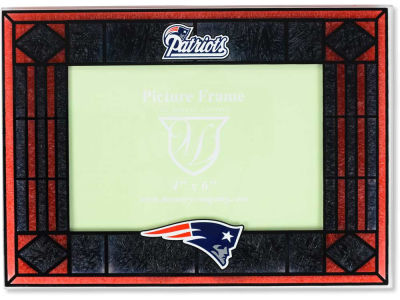 New England Patriots Memory Company Art Glass Picture