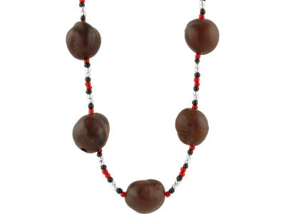 Small Bead Buckeye Necklace