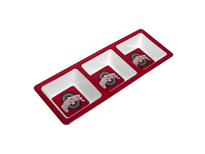 3 Section Melamine Snack Tray