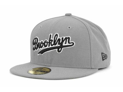 Brooklyn Dodgers MLB Gray BW 59FIFTY Cap Hats