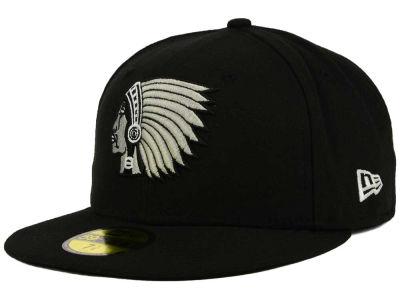 Boston Braves New Era MLB Black and White Fashion 59FIFTY Cap  e85099691e8