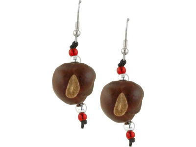Small Bead Buckeye Earrings