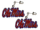 Ole Miss Rebels Crystal Logo Earrings Apparel & Accessories