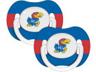 Kansas Jayhawks 2-pack Pacifier Set Newborn & Infant