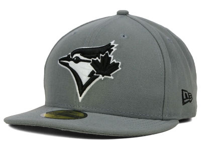Toronto Blue Jays MLB Gray BW 59FIFTY Cap Hats