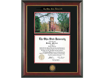 Diploma Frame Mahogany With Gold Lip Photo