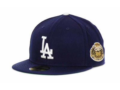 Los Angeles Dodgers MLB Retro World Series Patch 59FIFTY Cap Hats