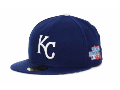 Kansas City Royals MLB Retro World Series Patch 59FIFTY Cap Hats